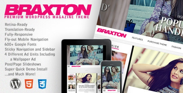 Braxton - Premium WordPress Magazine Theme - News / Editorial Blog / Magazine
