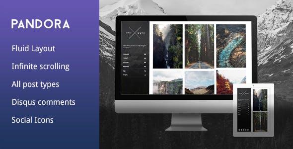 Pandora - Sidebar Tumblr Theme