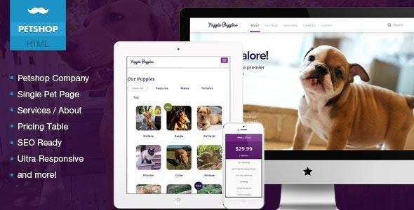 Petshop -  Responsive Pet Friendly Theme - Retail Site Templates