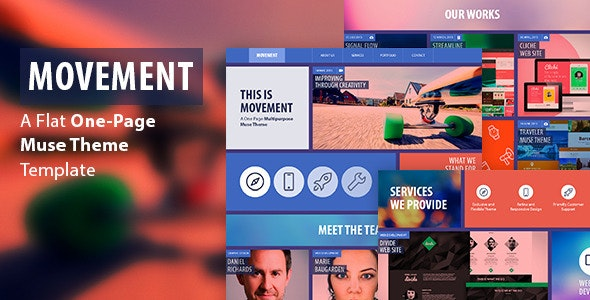 Movement - One Page Muse Template - Creative Muse Templates