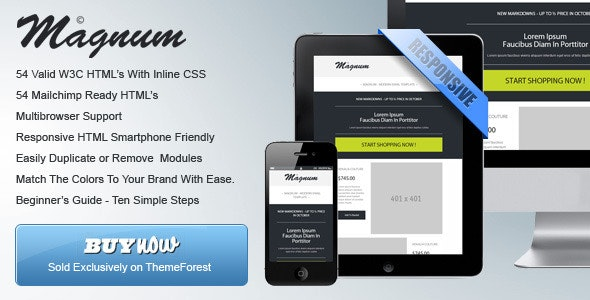 Magnum - Responsive HTML Email Templates - Catalogs Email Templates