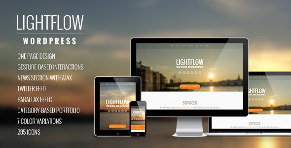 Lightflow - Creative One Page MultiPurpose WordPress Theme - Portfolio Creative