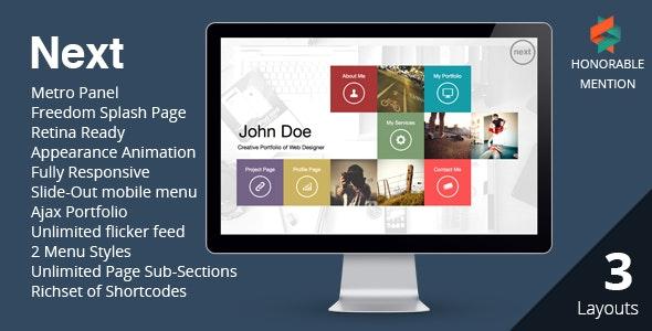 NEXT - WordPress Unique & Easy Portfolio  - Portfolio Creative