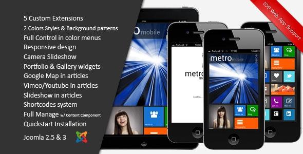 Metro Mobile :: Premium Joomla Template - Creative Joomla