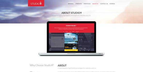 Studio9 - Theme PSD