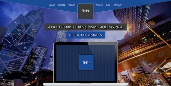 Emin - Multi-Purpose PSD Landing Page