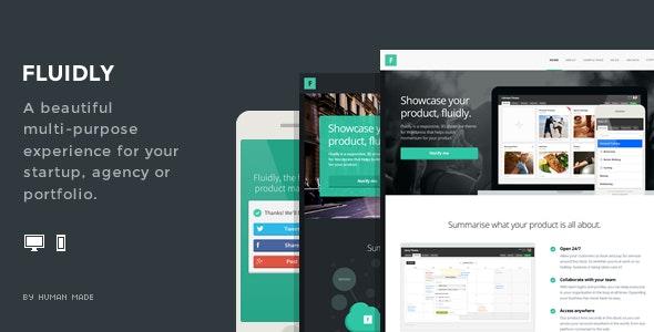 Fluidly - A Multi-Purpose PSD Template. - Creative Photoshop