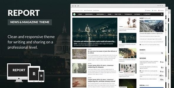 Report - News & Magazine Theme for WordPress - News / Editorial Blog / Magazine