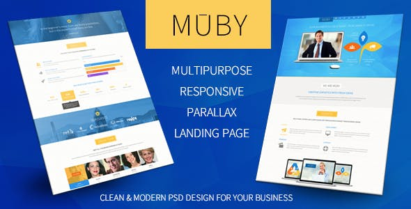 Muby   Multi-Purpose PSD Template