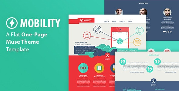 Mobility - One Page Muse Template - Creative Muse Templates