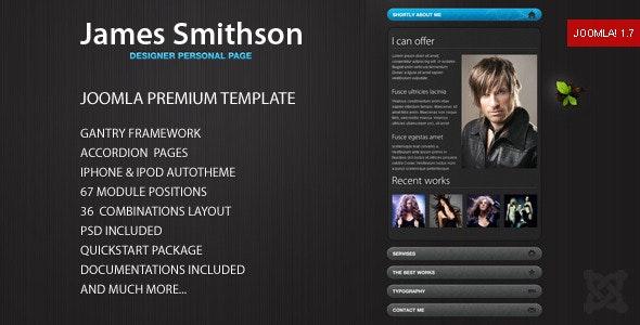 James - Premium Joomla Template - Portfolio Creative