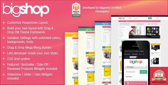 Responsive Magento Theme - Gala BigShop - Technology Magento