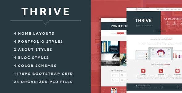 Thrive - Multipurpose Creative PSD Template - Creative Photoshop