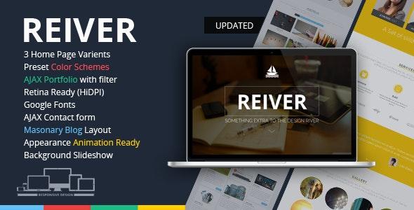 REIVER - Responsive OnePage HTML5 Template - Portfolio Creative
