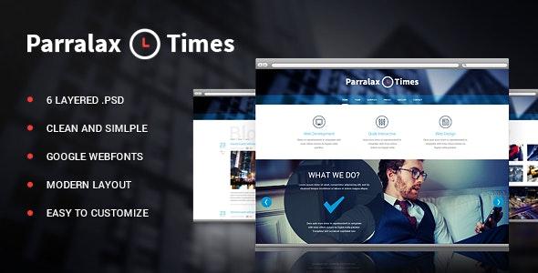 Parallax Times PSD - Photoshop UI Templates