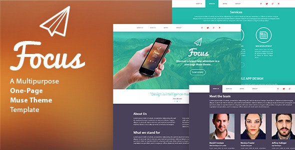 Focus - One Page Muse Template - Creative Muse Templates
