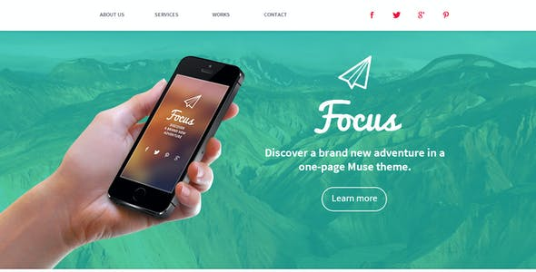 Focus - One Page Muse Template