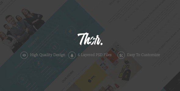 Thor - One Page Portfolio PSD Template - Portfolio Creative