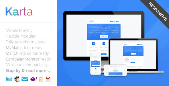 Karta, Minimalist Responsive Email Template - Newsletters Email Templates
