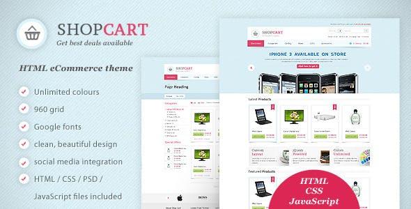 ShopCart - HTML / CSS / JavaScript eCommerce theme