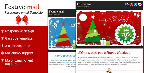Festive2 - Christmas Newsletter Template - Newsletters Email Templates