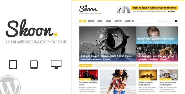Skoon - WordPress Magazine / News Theme - Blog / Magazine WordPress