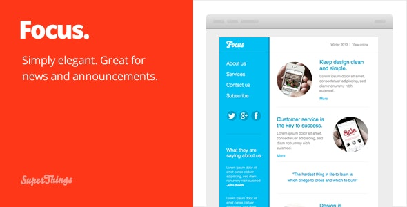 Focus email template - Email Templates Marketing