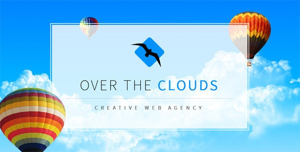 Over The Clouds One Page Muse Template - Creative Muse Templates
