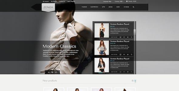 Zonda - Responsive eCommerce PSD Template