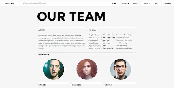Briefcase HTML. Bold & Flat Portfolio 4 Designers