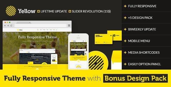 Yellow - Fully Responsive Theme with Design Pack - Portfolio Creative