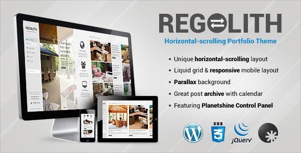 Regolith — Responsive Horizontal Portfolio Theme - Experimental Creative