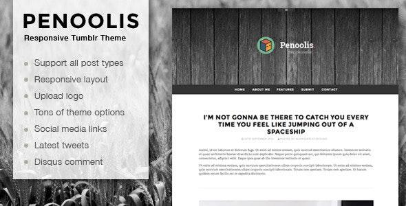 Penoolis - Responsive Tumblr Blog Themes - Blog Tumblr