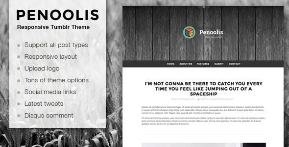 Penoolis - Responsive Tumblr Blog Themes