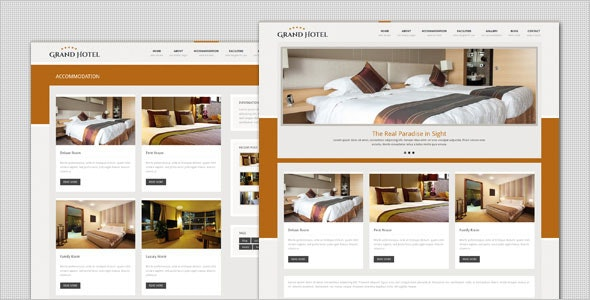 Grand Hotel - Resorts Business HTML Template - Travel Retail