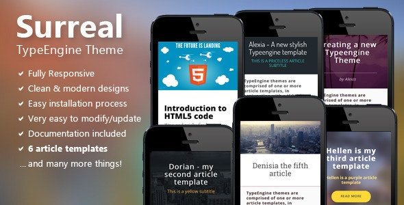 Surreal - Responsive TypeEngine Theme - TypeEngine Themes
