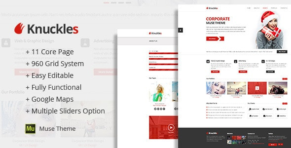 Knuckles - Corporate Muse Templates