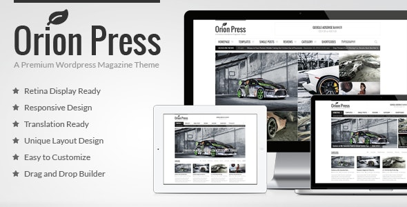 Orion Press - Retina and Responsive Magazine Theme - Blog / Magazine WordPress