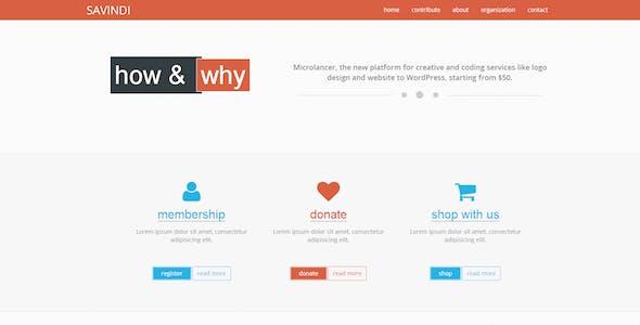 Savindi - Responsive Landing Page