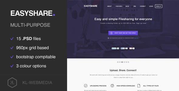 Easyshare - Filesharing PSD Template