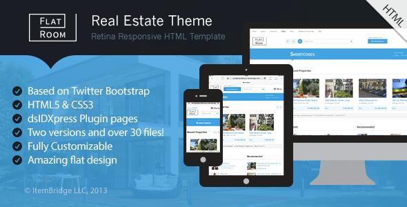 FlatRoom — Responsive Real Estate HTML Template - Corporate Site Templates