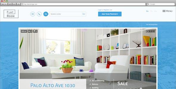 FlatRoom — Responsive Real Estate HTML Template