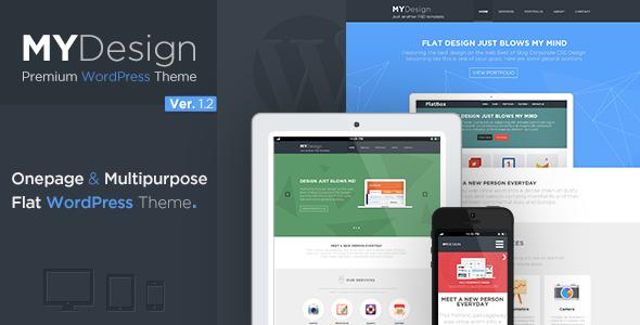 MYDesign - Onepage Multipurpose Flat WP Theme - Corporate WordPress