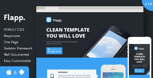 Flapp - One Page Responsive Landing Page - Creative Landing Pages