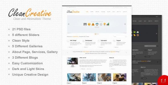 Clean Creative - Photoshop UI Templates