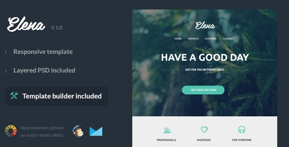 Elena - Responsive Email Template - Newsletters Email Templates