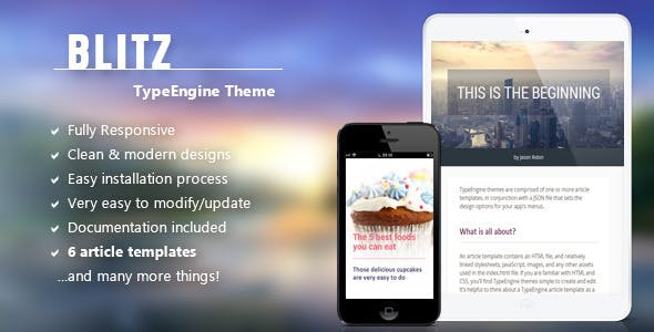 Download Blitz - Responsive TypeEngine Theme