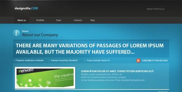 Designstile template - Portfolio Creative
