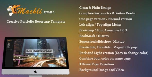 Machli - Simple Plain Creative Bootstrap Template