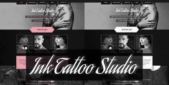 Ink Tattoo Studio -  One Page Portfolio Template - Portfolio Creative